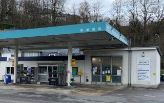 Tankstelle von Aussen